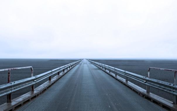 Фото обои пейзаж, мост, долина