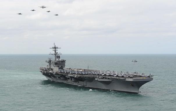 Фото обои USS Theodore Roosevelt, авиация, авианосец, океан, «Нимиц», типа, (CVN 71)
