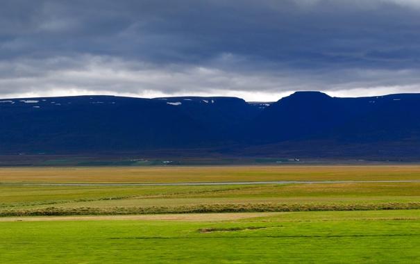 Фото обои дорога, горы, природа, панорама, Исландия