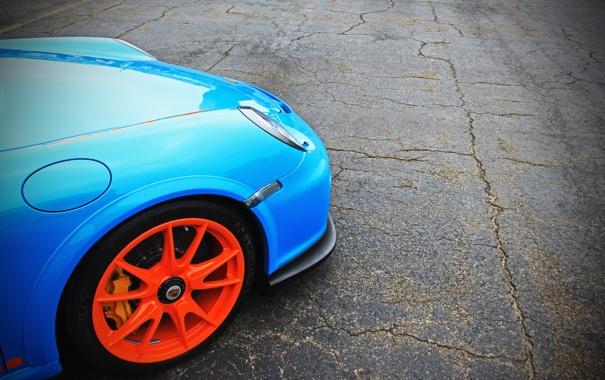 Фото обои фото, Porshe, auto, cars, GT3 RS, Blue, City