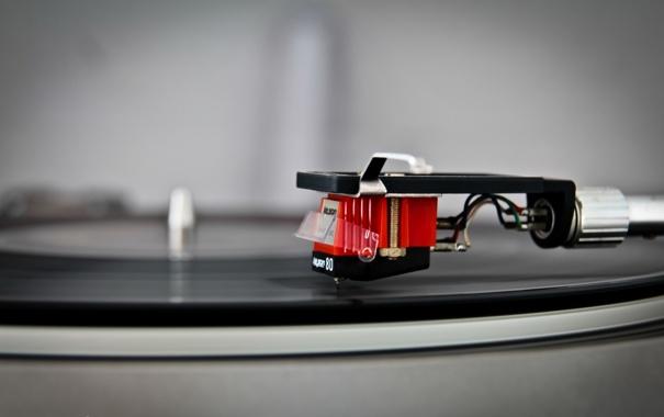 Фото обои музыка, пластинка, электропроигрыватель