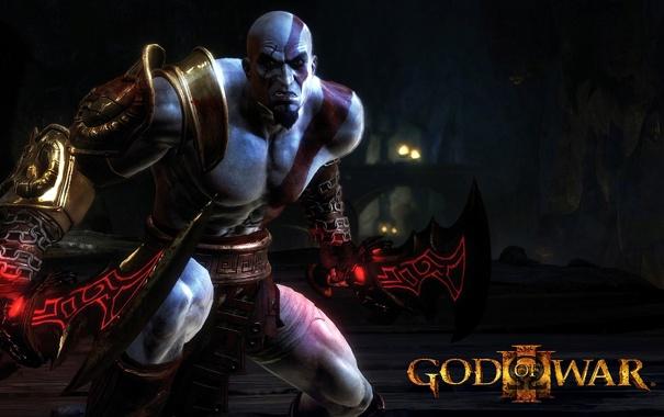 Фото обои God Of War, титаны, Кратоc, мифология, Бог войны, Греция, swords