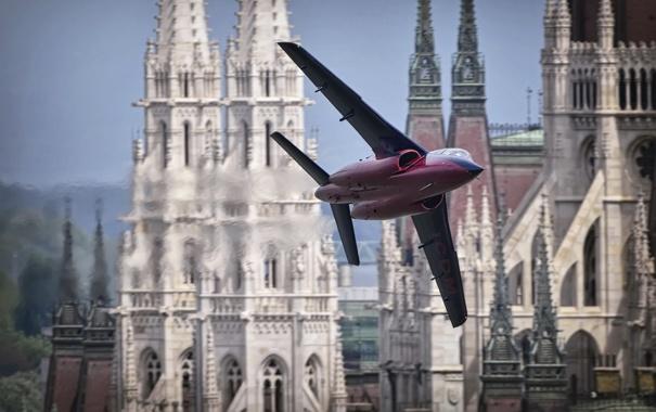 Фото обои город, самолёт, Budapest, Alpha Jet