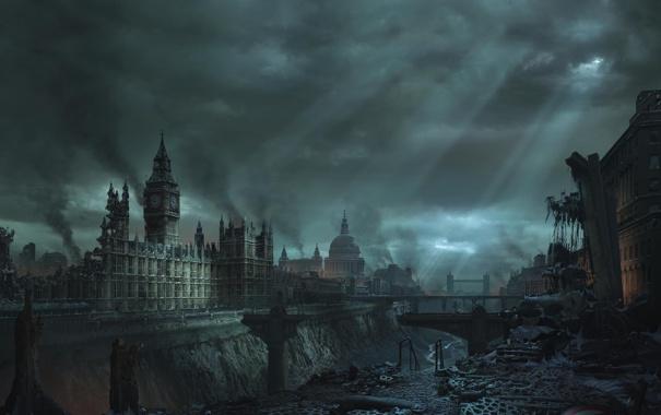 Фото обои англия, лондон, руин