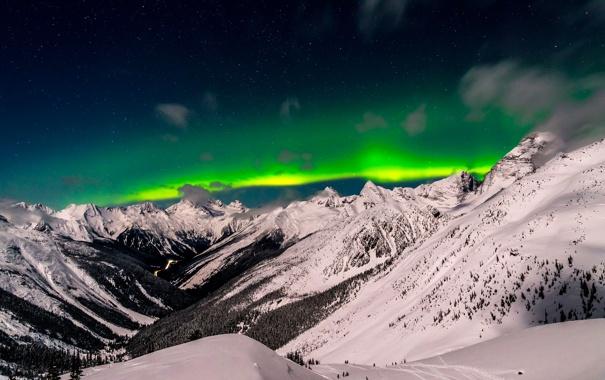 Фото обои British, Winter, Green, Snow, Columbia, Valley, Asulkan