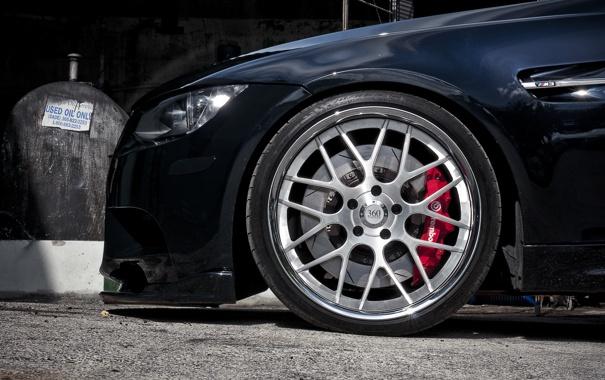 Фото обои чёрный, бмв, BMW, black, E92, 360 three sixty forged