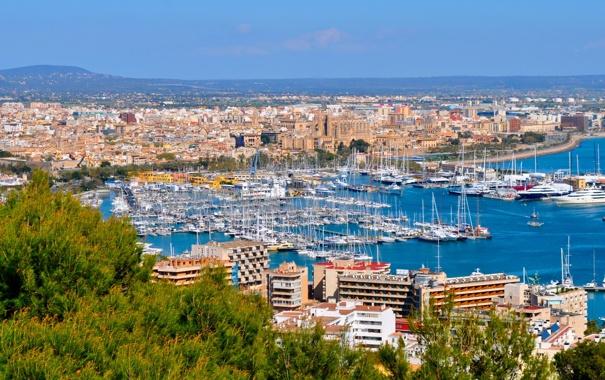 Фото обои город, фото, дома, Испания, Balearic Islands, Mallorca