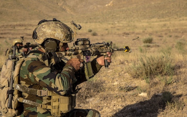 Фото обои оружие, солдат, Afghan Army Special Forces