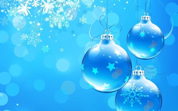 Фото обои шарики, свет, украшения, снежинки, праздник, узоры, блеск