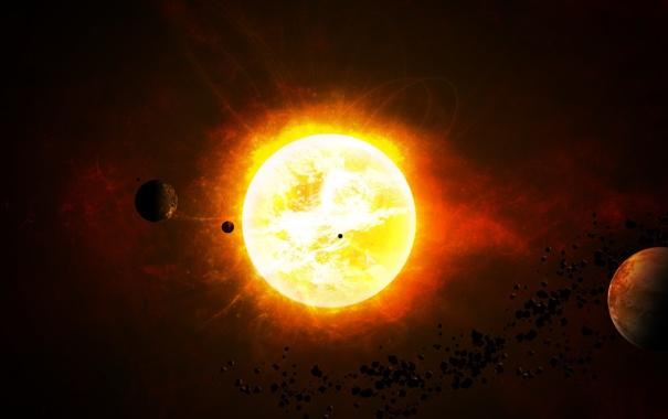 Фото обои star sistem, астероиды, планеты, the bitter end, звезда