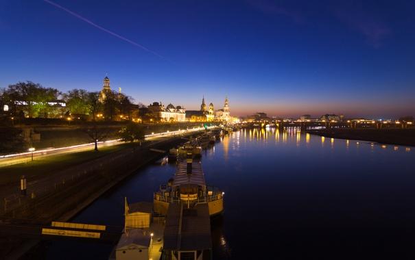 Фото обои Германия, Дрезден, night, germany, dresden