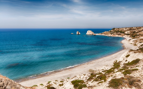 Фото обои песок, море, пляж, берег