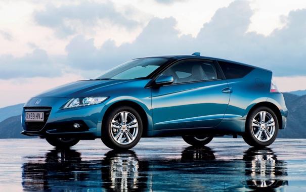 Фото обои хонда, отражение, CR-Z, Honda, небо