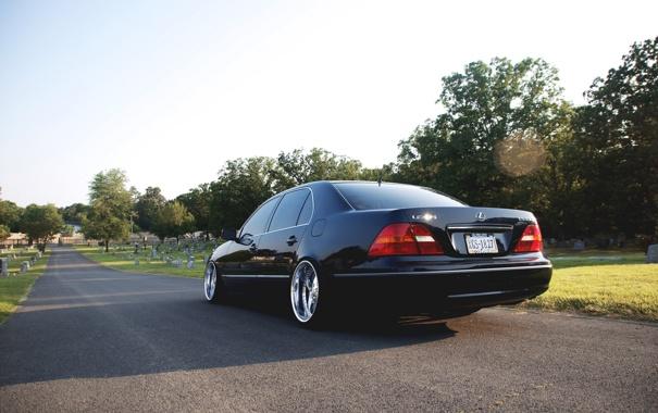 Фото обои кладбище, лексус, VIP, lexus, черный, black, ls430