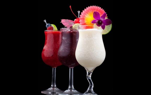 Фото обои зонтик, бокалы, коктейль, лайм, напиток, drinks, cocktails