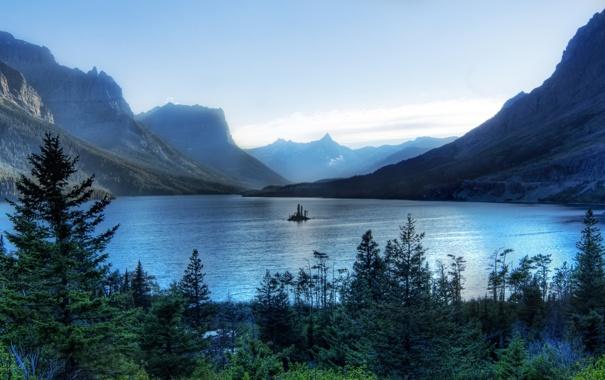 Фото обои вода, горы, фото, пейзажи, hdr, widescreen wallpapers