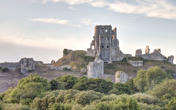 Фото обои city, город, фотограф, photography, Corfe Castle, Lies Thru a Lens