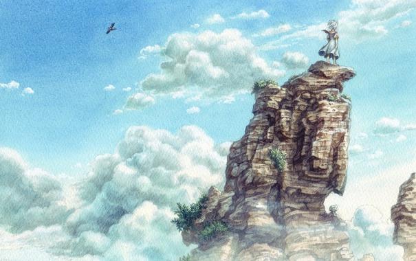 Фото обои пейзаж, настроение, живопись, art, esorano