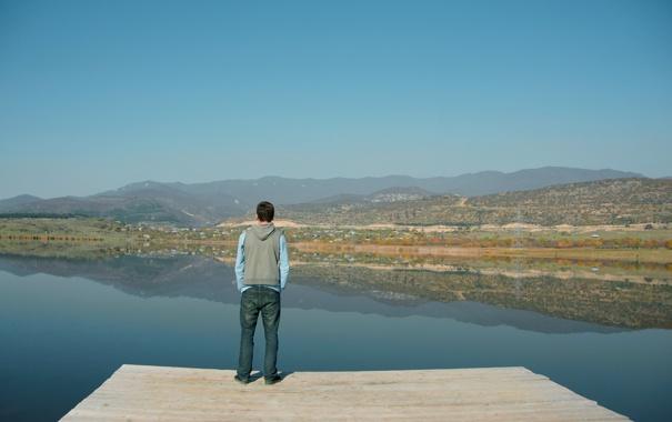 Фото обои горы, пейзажи, Озеро