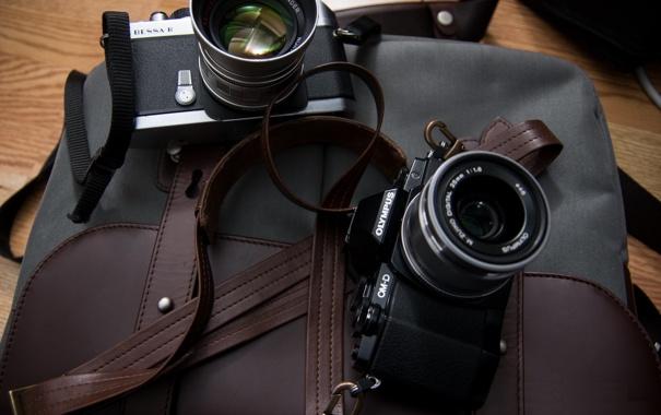 Фото обои EM10, фотоаппарат, Olympus, OMD, сумка