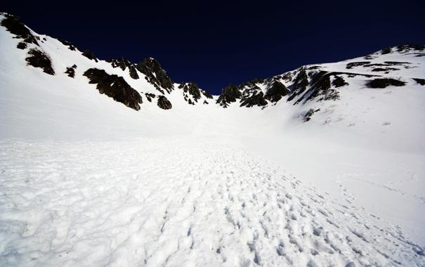 Фото обои Sky, White, Cold, Snow, Winter, Blue, Black