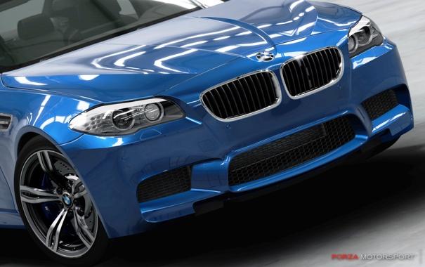 Фото обои car, синий, фары, BMW, Forza Motorsport 4