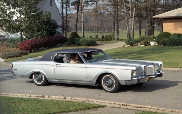 Фото обои Lincoln, Continental, Континенталь, передок, 1968, Линкольн, Mark 3