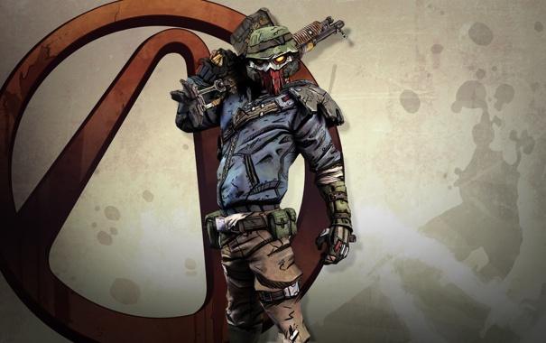 Фото обои оружие, обои, игра, маска, wallpapers, бандит, bandit