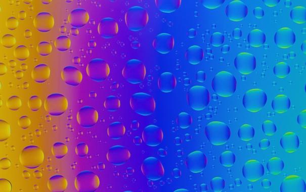 Фото обои стекло, свет, пузырьки, цвет, радуга