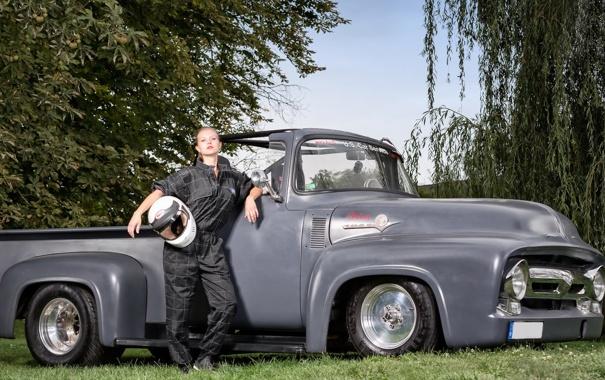 Фото обои Model, Janine, Ford F100 based HotRod