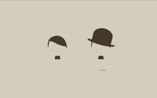 Фото обои шляпа, чаплин, гитлер