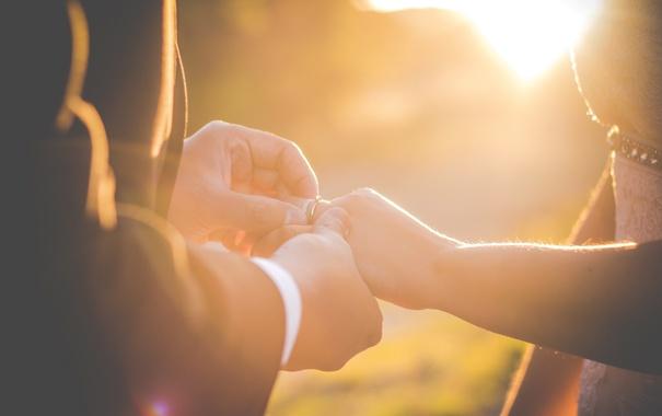 Фото обои руки, кольцо, свадьба