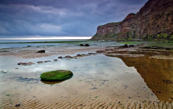 Фото обои море, пейзаж, закат, природа, берег