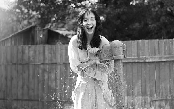Фото обои девушка, настроение, смех