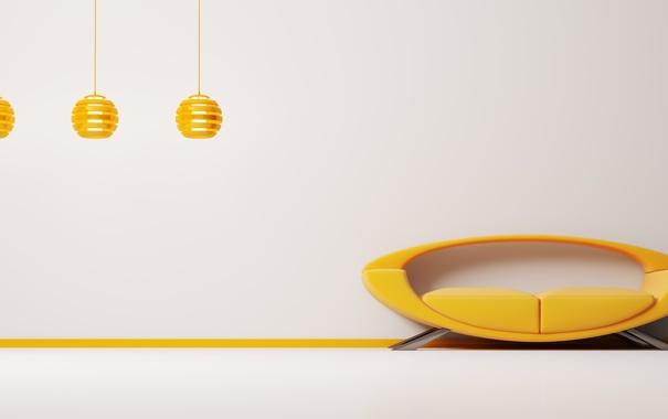 Фото обои стиль, лампы, диван