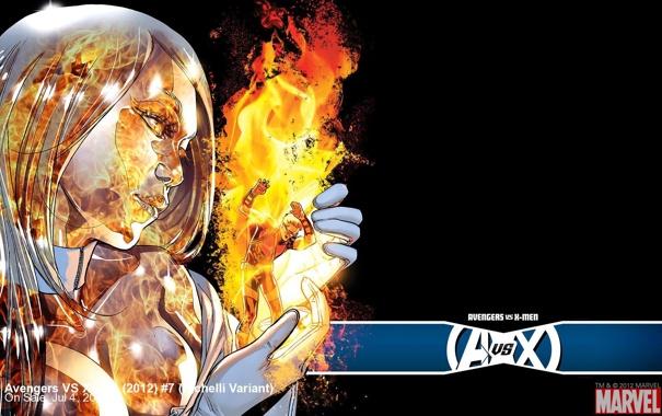 Фото обои Marvel, комикс, comics, Emma Frost, Hawkeye, Соколиный глаз, Avengers vs X-Men