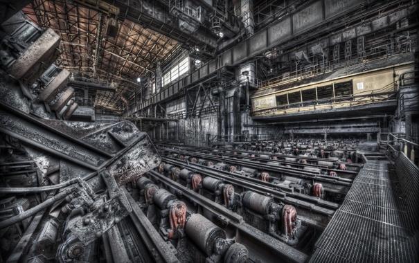 Фото обои фабрика, фон, завод