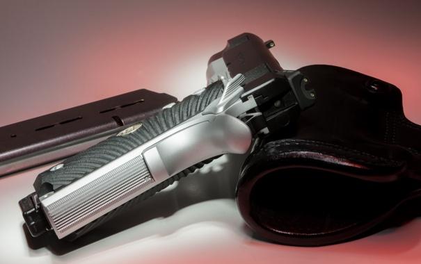 Фото обои макро, пистолет, оружие