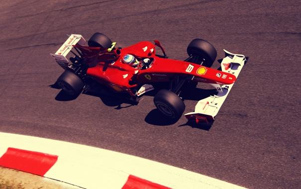 Фото обои трасса, формула 1, Ferrari, пилот, феррари, formula 1, гонщик