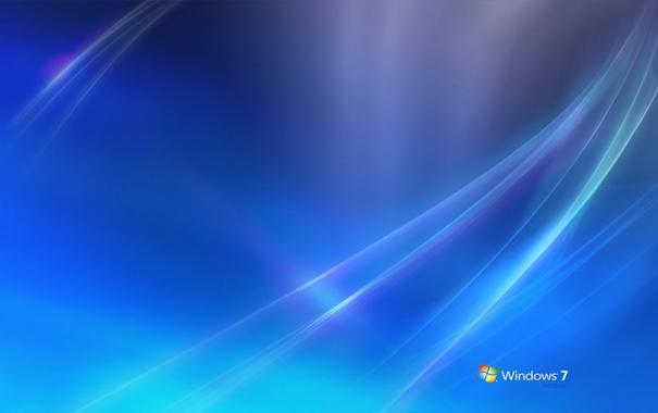 Фото обои голубой, разное, Windows7