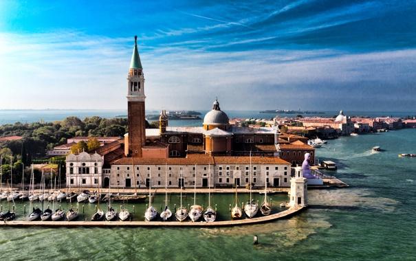 Фото обои остров, Италия, церковь, Венеция, гранд канал, Сан-Джорджо Маджоре