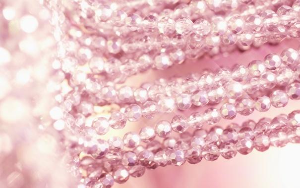 Фото обои бусы, браслет, украшение, розовые, разное, аксессуары