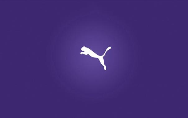 Фото обои logo, minimalism, background, puma, company, brand