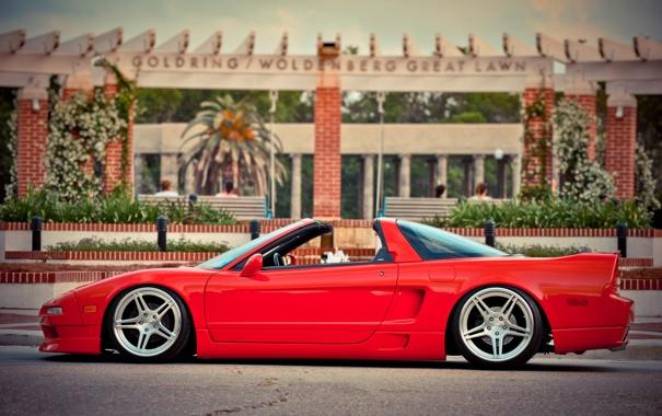 Фото обои кабриолет, красная, литье, Acura nsx
