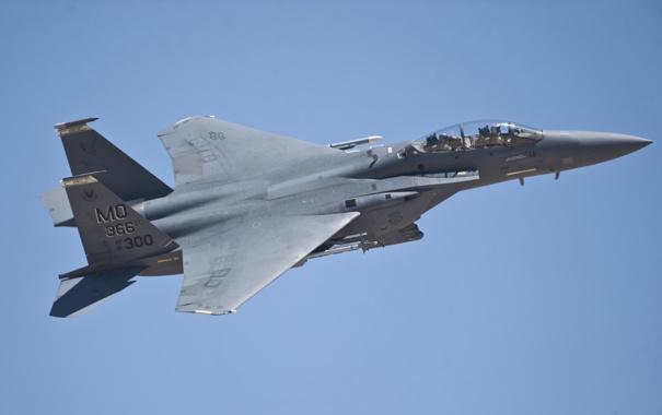 Фото обои истребитель, Eagle, F-15E, McDonnell Douglas