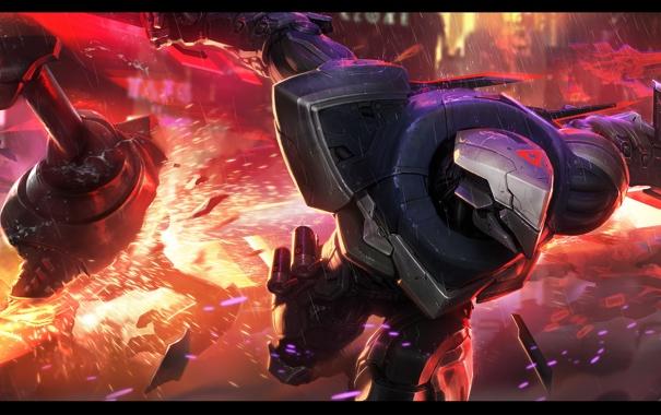 Фото обои панорама, art, League of Legends, Leona, Fiora, Zed, Yasuo