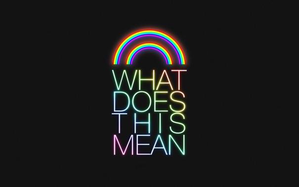 Фото обои буквы, креатив, обои, радуга, минимализм, символы, слова