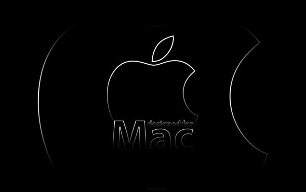 Фото обои надпись, мак, apple, mac, design