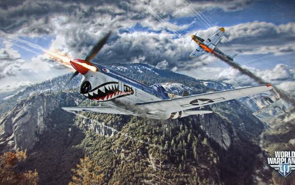 Фото обои самолет, холмы, зубы, aviation, авиа, MMO, Wargaming.net