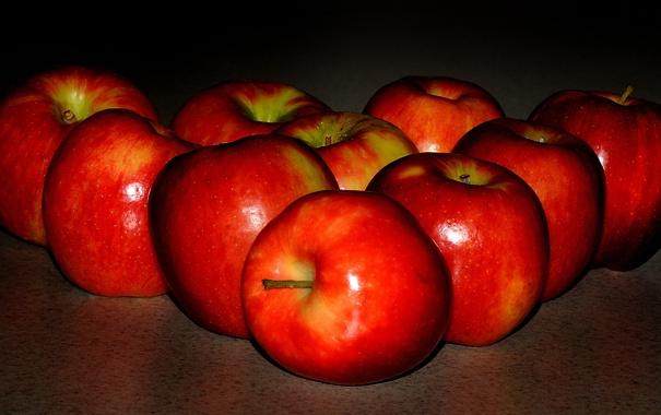 Фото обои макро, яблоки, урожай, фрукты